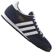 ADIDAS ORIGINALS DRAGON Leather Shoes Sneakers Trainers gazelle Navy Blue White