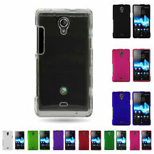 Hard Snap On Rubberized Plastic Phone Cover Case For Sony  Xperia TL LT30AT