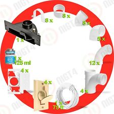 Central Vacuum Almond 4-Inlet Installation Kit- Black Vacpan-One simple tO USE!!