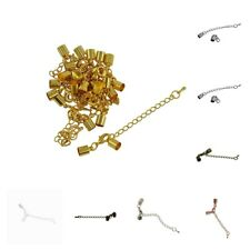 12Pcs 50mm Necklace Extender Chain with Lobster Clasp for DIY Jewelry Making