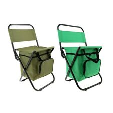 Portable Folding Chair Beach with Cooler Bag for Hiking Fishing Picnic BBQ