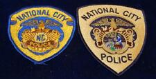2 Different National  City  California Police  Patches Free Shipping
