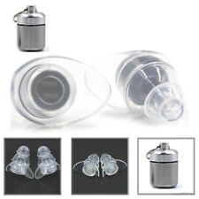 NEW Hearing Protection Ear Plugs Clear Soft Silicone Earplugs for Music Sleeping