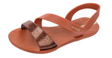 Womens Ipanema Flat Sandals Vibe Flip Flops Beach Shoes Bronze - World Shipping