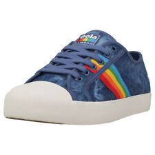 Gola Coaster Rainbow Womens Denim Multicolour Canvas Trainers