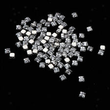50/100pcs Square Clear Acrylic Beads Arts Crafts Supplies Kit Handmade Gift