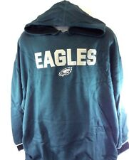 NEW Mens NFL Majestic Philadelphia Eagles Green Pullover Fleece Football Hoodie