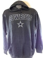 Mens NFL Dallas Cowboys Authentic Charcoal Grey Pullover Fleece Football Hoodie