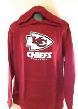 NEW Mens Majestic NFL Kansas City Chiefs Screen Print Football Pullover Hoodie