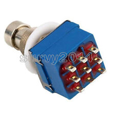 1/2/5/10PCS 9-pin Guitar Effects Pedal Box Stomp Bypass 3PDT Foot Metal Switch