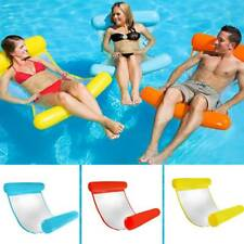 Summer Water Hammock Pool Bed Chair Inflatable Floating Float Swimming Lounge