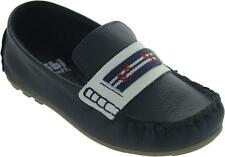 Bibi 1009003 Kid's Navy Blue Pull On Flat Twin Gusset Nautical Loafers New