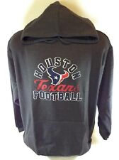 NEW Mens NFL Majestic Houston Texans Charcoal Screen Printed Pullover Hoodie