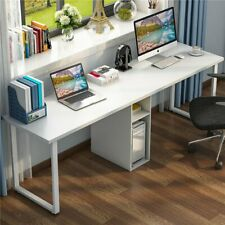 "78.7"" Modern Computer Desk Table Workstation With Double Person For Home Office"