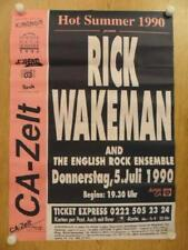 YES RICK WAKEMAN ORIGINAL CONCERT POSTER DONNERSTAG 1990
