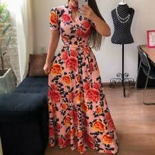 Sundress long dress floral maxi cocktail evening party Women's boho beach summer