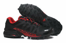 Mens Salomon Speedcross 5 Athletic Running Sports Outdoor Hiking Shoes Black/Red