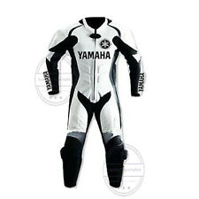 MEN BLACK YAMAHA MOTORCYCLE 1 PC LEATHER RACING SUIT, MADE TO ORDER