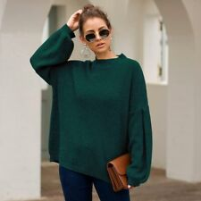 Loose Pullover Jumper Long Sleeve Knitted Knit Shirt Knitwear Tops Sweater