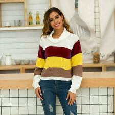 Jumper Loose Tops Casual Long Sleeve Pullover Knit Shirt Knitted Sweater