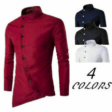 Luxury Fashion Long Sleeve T-Shirt Tops Casual Men's Formal Slim Fit