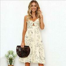 Women Summer Party Sundress Short Holiday Sexy Sleeveless Floral Dress Beach