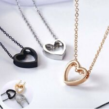 Necklace Chain Heart Jewelry Pendant Stainless Steel Charm Choker Women Gift
