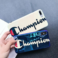 CHAMPION Tempered Glass Case FASHION Case For iPhone 6 7 8 X XS XR XS MAX