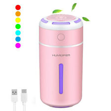 Ultrasonic Essential Oil Diffuser Mini Aromatherapy Air Humidifier 7 Colors LED
