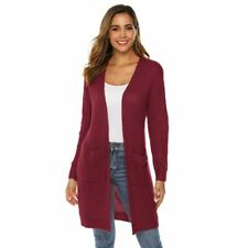 Sweater Outwear Coat Casual Long Sleeve Jacket Womens Knitted Cardigan Loose