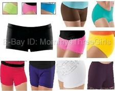 New Dance Gymnastics Booty Mini Bar Shorts Hot Pants Solid Colors Child Sizes