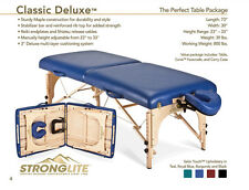 Stronglite Classic Deluxe Portable Massage Table Package - New w Free Shipping