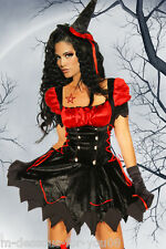 ♥ Fashing Kostüm Petticoat WITCH sexy HEXE Kleid & Hut XS-M Halloween ♥