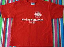 MY GRANDPA SAVES LIVES FIRE DEPARTMENT TODDLER T-SHIRT