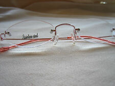 OVAL RIMLESS READING GLASSES Almost Invisible #1086