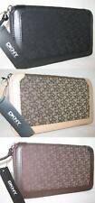 $90 DKNY Town & Country Classic Organizer Bag Purse Wallet Zip Around Clutch New