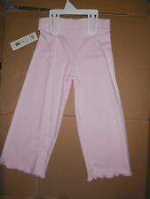 NWT FRENCH TERRY DANCE  GAUCHOS GIRLS Body Wrappers Pink Ch 16 XLC