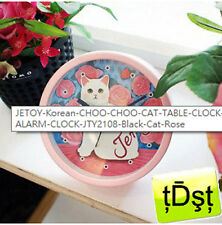 [JETOY] Korea CHOO CHOO CAT TABLE C'LOCK ALARM CLOCK JTY2108 Black Cat Rose