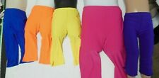 NWT STRETCH CAPRI PANTS COLORS GREAT PRICE DANCE Theatrical Yoga notched hem