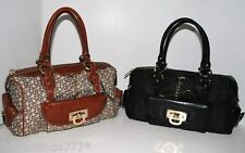 DKNY Town & Country Fashion Hardware Satchel Bag Coin Purse Wallet Sac New
