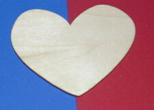 Sharmaine Hearts Unfinished Wood Shapes SH195 - Crafts Cut Outs Variety of Sizes
