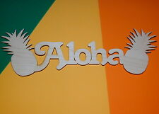 Pineapples Aloha Shape Flat Unfinished Wood Craft Cut Outs Variety Sizes PA607