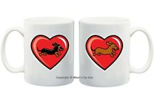 DACHSHUND LOVE MUGS: SMOOTH, LONGHAIR, WIREHAIR, DAPPLE & PIEBALD