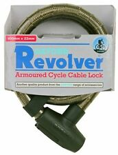 Oxford Bicycle Bike Cycle Revolver Security Armoured Cable Lock 0.9M Smoke