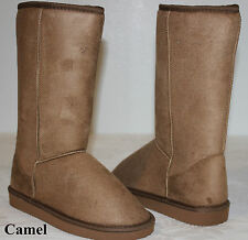 New Women's Winter Snow Boots Shoes Mid Calf Warm Camel USA Seller Ship Fast