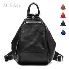 Quality Genuine Leather Ladies Women Backpack Tote Shoulder Handbag Bag Satchel