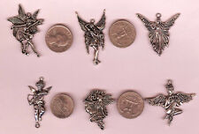 Lg Silver Fairy & Angel Charm or Pendant 6 to choose from Free S/H after 1st one