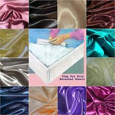 2 KING SIZE WATERBED SHEET SETS - Bridal Satin FREE BODY PILLOWCASE 16 colors
