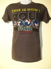 Sonic The Hedgehog This Is How I Gray Adult Short Sleeve T Shirt NEW NWT