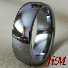 Tungsten Men's Ring Classic Wedding Band Bridal Jewelry Titanium Color Size 6-15